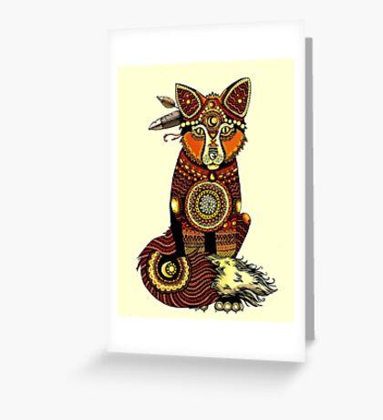 Tribal Fox  Greeting Card