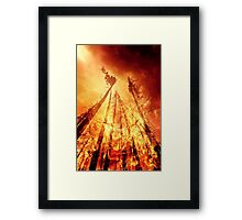 I couldn't get enough, so I had to self destruct. Framed Print