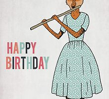 Happy Birthday - Fox Plays Flute by Paper Sparrow