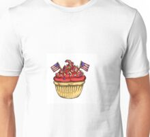 Festive Independence Day Cupcake Unisex T-Shirt