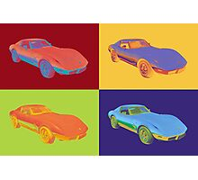 1975 Chevy Corvette Stingray Sports Car Pop Art. Photographic Print