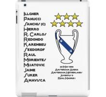 Real Madrid 1998 Champions League Winners iPad Case/Skin