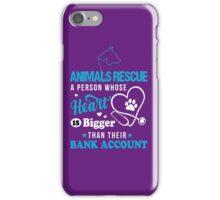 Animals, Animals Rescue, Animals Rescue shirt, animals rescue mug iPhone Case/Skin
