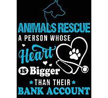 Animals, Animals Rescue, Animals Rescue shirt, animals rescue mug Photographic Print