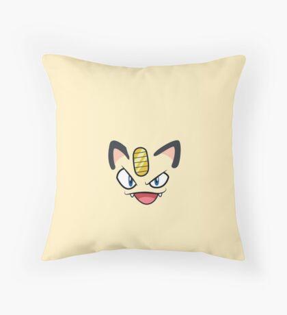 Meowthhhh Throw Pillow