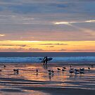 Surfers at sunset.... by wigs