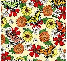 Floral Fantasy Pattern Photographic Print
