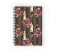 The wine lovers. Spiral Notebook