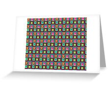Abstract Colorful Squares Greeting Card