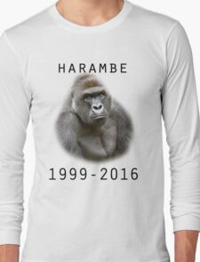 R.I.P Harambe (Black) Long Sleeve T-Shirt