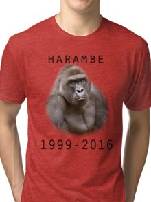 R.I.P Harambe (Black) Tri-blend T-Shirt