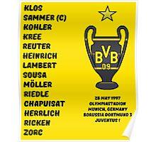 Borussia Dortmund 1997 Champions League Winners Poster