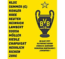 Borussia Dortmund 1997 Champions League Winners Photographic Print