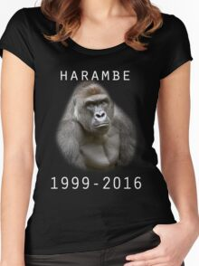 R.I.P Harambe (White) Women's Fitted Scoop T-Shirt