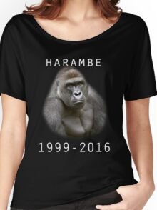 R.I.P Harambe (White) Women's Relaxed Fit T-Shirt