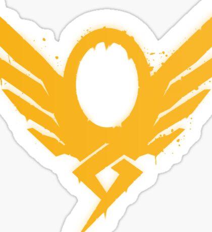Hero's Never Die! - Mercy's Graffiti Logo Sticker