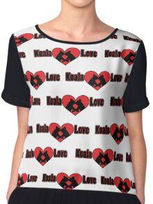 Koala Love #2 Pattern  Chiffon Top
