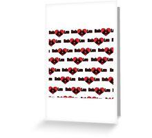 Koala Love #2 Pattern  Greeting Card