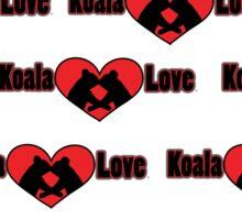 Koala Love #2 Pattern  Sticker
