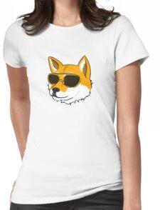 Sunglasses Shiba (no text) Womens Fitted T-Shirt