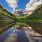 Maroon Bells Images - A Maroon Lake Reflection on a Summer Colorado Morning by RobGreebonPhoto