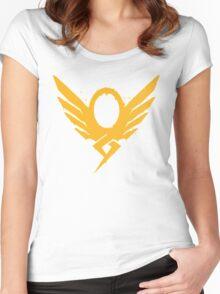 Hero's Never Die! - Mercy's Graffiti Logo Women's Fitted Scoop T-Shirt