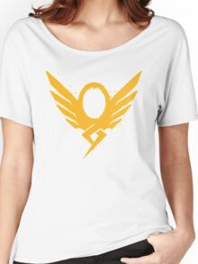 Hero's Never Die! - Mercy's Graffiti Logo Women's Relaxed Fit T-Shirt