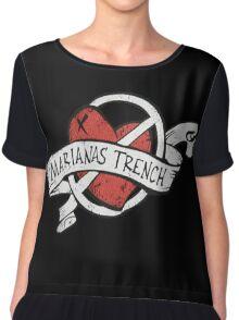 Marianas Trench Heart Logo Chiffon Top