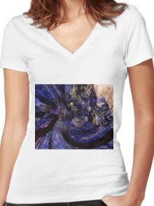 Michael's War - Digital Artifact Women's Fitted V-Neck T-Shirt