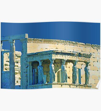 Templo Erecteión. En Acrópolis Atenas. Poster