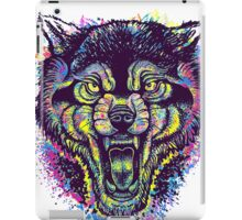 Neotraditional Full Color Wolf iPad Case/Skin