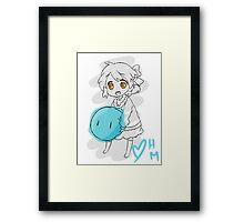 Clannad: Ushio With Dango Framed Print