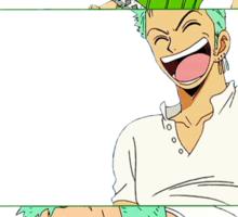 Laughing Zoro Sticker