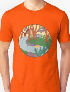 Forest Circle at Dusk Unisex T-Shirt