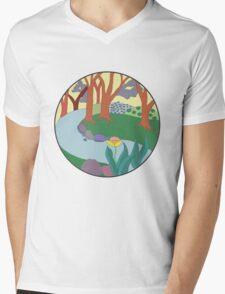 Forest Circle at Dusk Mens V-Neck T-Shirt