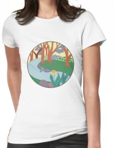 Forest Circle at Dusk Womens Fitted T-Shirt