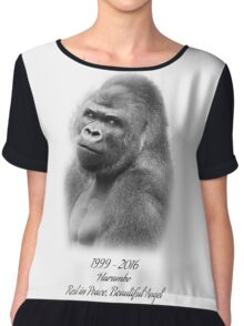 Rest in Peace, Harambe Chiffon Top