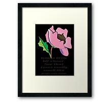 your rose smells like poo Framed Print