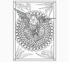 Flying Budgie Mandala Drawing Unisex T-Shirt