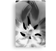 Tulip In BW Canvas Print