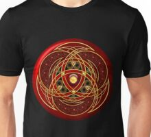 Red and Gold Celtic Medallion Unisex T-Shirt
