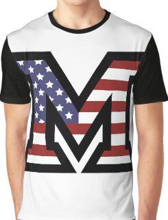 Miami University 'M' American Flag  Graphic T-Shirt