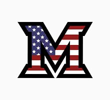 Miami University 'M' American Flag  Unisex T-Shirt