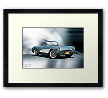 1956 Chevrolet Corvette Convertible Framed Print