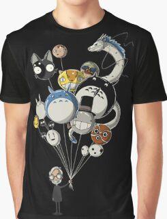 Miyazaki's Balloons Graphic T-Shirt