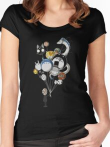 Miyazaki's Balloons Women's Fitted Scoop T-Shirt