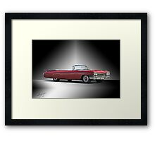1960 Cadillac DeVille Convertible 'Studio' Framed Print