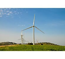 Wind turbines create clean and renewable electricity  Photographic Print