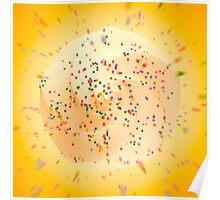 Digitales Softeis mit Liebesperlen Poster