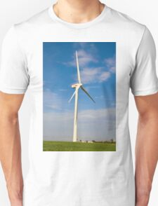 Wind turbines create clean and renewable electricity  Unisex T-Shirt